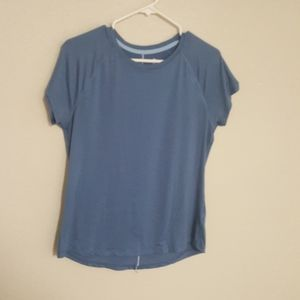 Champion Activewear M Top Blue Moisture Wicking